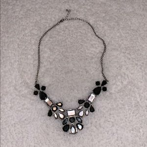 Black and Silver Geo Necklace